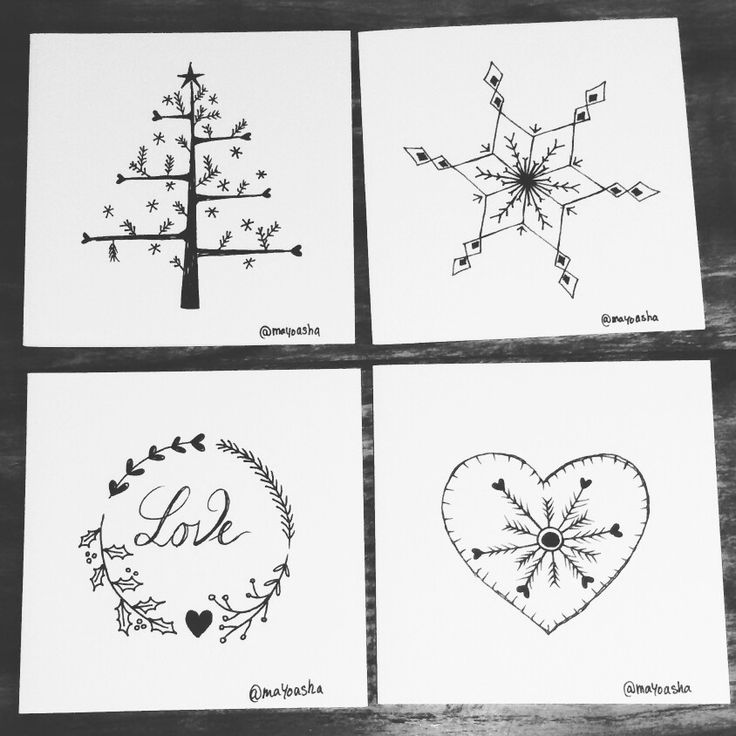 @mayoasha #pentekening #kerst #kerstkaarten #christmas #christmascards
