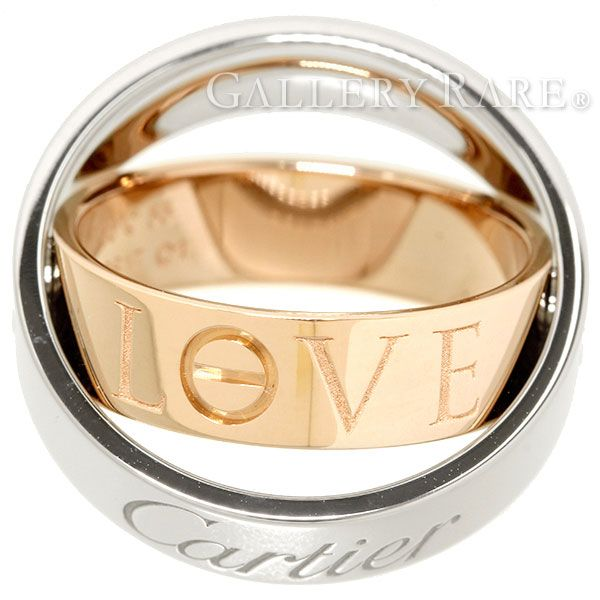 Cartier Ring, secret love, 18K pink gold, white gold