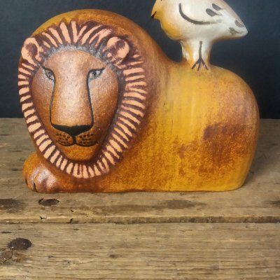 "Lisa Larson ""Lejon med fågel """