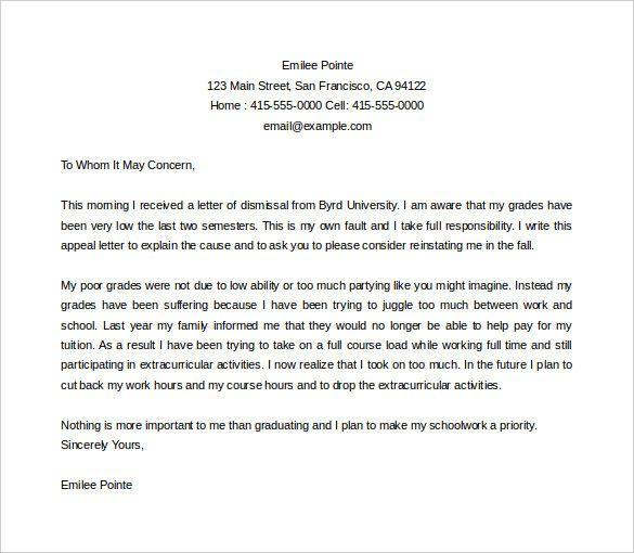 College Suspension Appeal Letter Sample Awesome Dismissal Appeal
