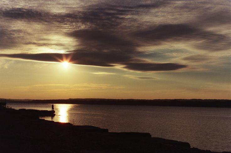 Fishing in solitude at Burlington Bay (Photo by: Barbara Webb)