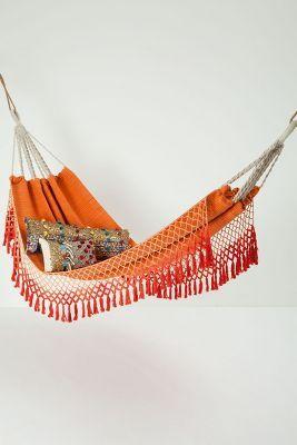 If you get to camp near trees, bring a hammock! Anthropologie Handwove Karoo hammock