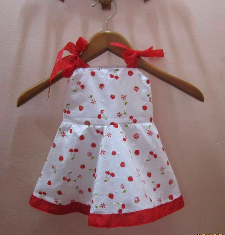 C & O Fab-Ventures: White and Red Frock for kids