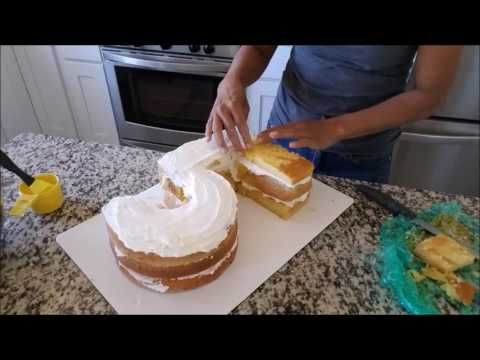 Bolo Numero 5/  Number 5 Birthday cake - YouTube