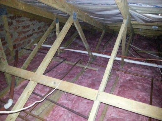 insulating with think pink aerolite insulation