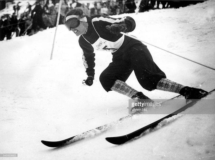 Skiabfahrt Olympia 1952