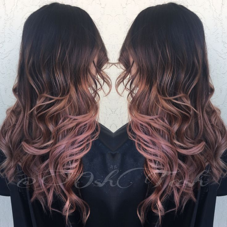 rose gold balayage creations