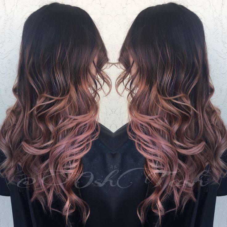 Rose Gold Balayage My Creations Hair Rose Gold