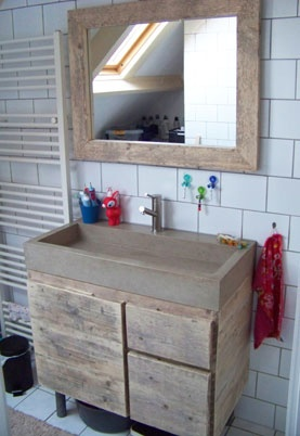 Badkamermeubel en spiegel | Meubels op maat bij CJ Meubels  Styling