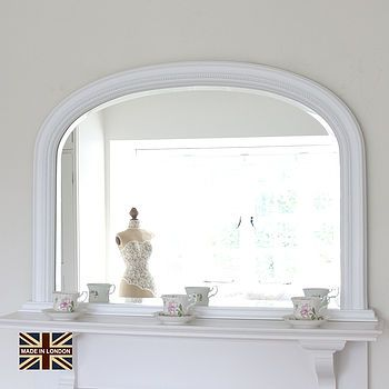 Beaded Overmantle Mirror In Many Colours