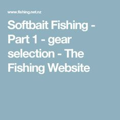 Softbait Fishing - Part 1 - gear selection - The Fishing Website