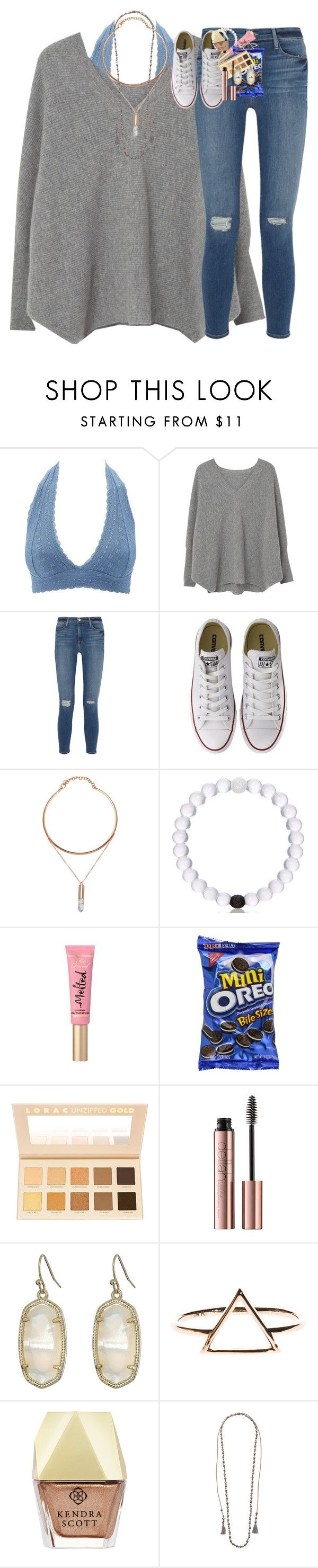 """""""food tag in description!!1!11"""" by classynsouthern ❤ liked on Polyvore featuring Charlotte Russe, MANGO, Frame, Converse, Too Faced Cosmetics, LORAC, Kendra Scott, Chan Luu and country"""