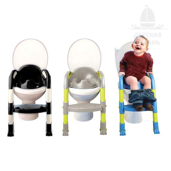 Детское сиденье для унитаза со ступенькой, фиолетово-розовое-2