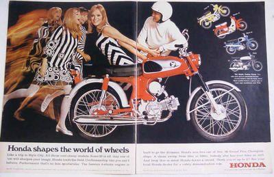 Honda motorcycle ad (1960s)