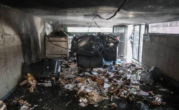 Neuerlicher Brand im Müllraum der Bahnhof City Wels in Wels-Innenstadt
