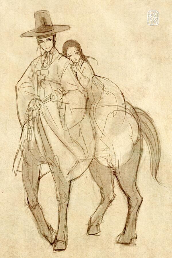 한복 Hanbok : Korean traditional clothes[dress] #흑요석 #art #korean