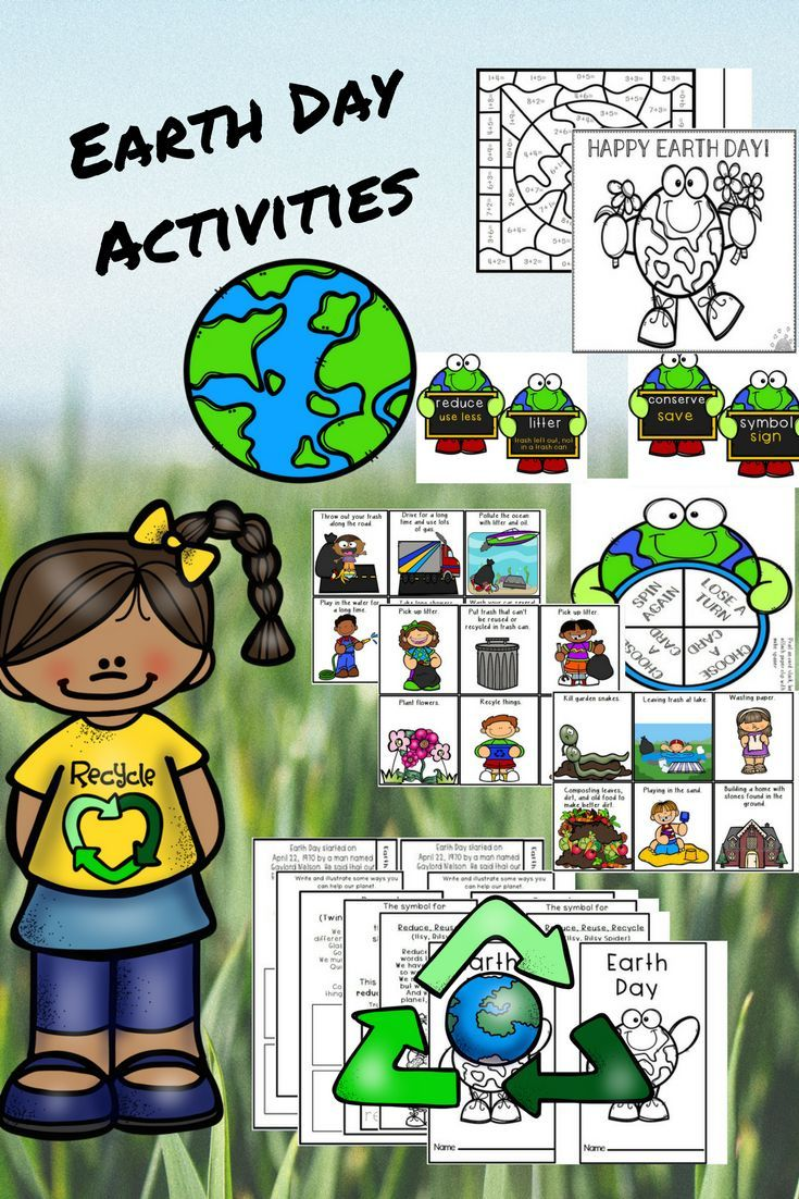 Fun and Engaging 32 Page Set of Earth Day Games, 6 page Flip-It Tab Books, 2 Color by Code Pages 2 Coloring Posters, and Spin and Win Good vs Bad for Earth Game. $3.50