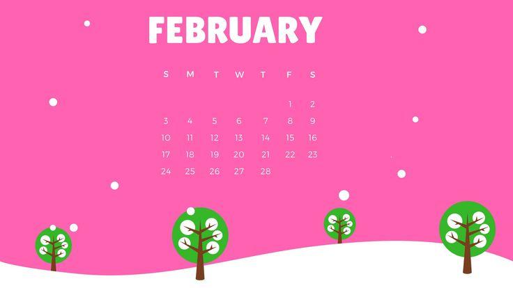 february 2019 calendar wallpaper