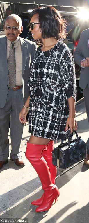 The actress, 40, made sure she turned heads as she dazzled in two chic outfits while promoting the last series of the ABC drama on Good Morning America on Thursday.