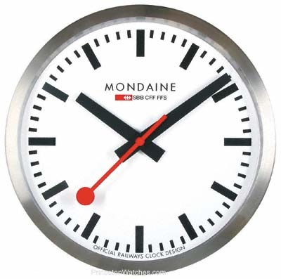 mondaine wall clock