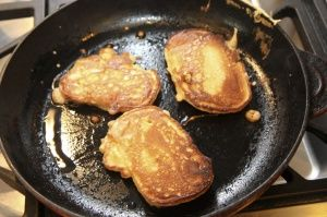 Spam fritters, fried