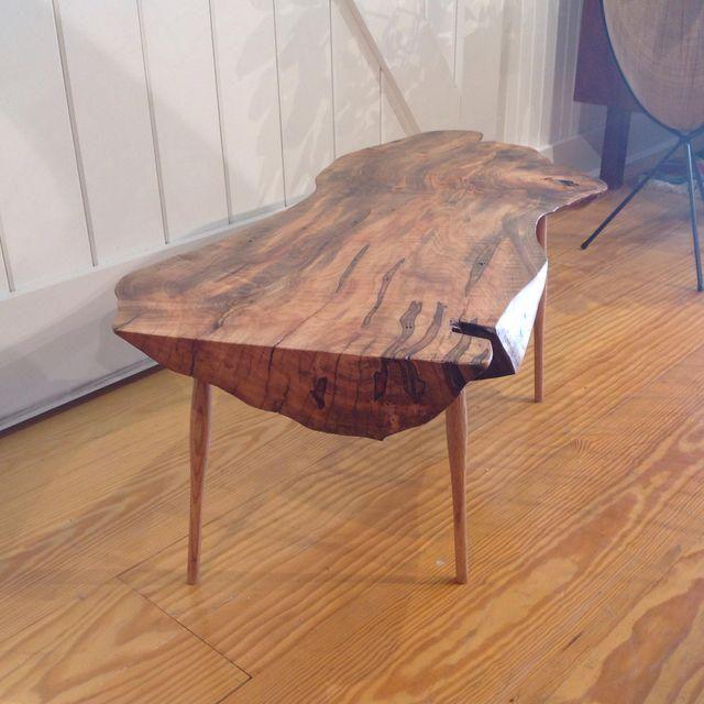 Image of Live Edge Walnut Slab Coffee Table