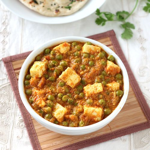 Matar Paneer Curry - Perfect lunch special vegetarian curry to serve with naan, paratha or tandoori roti. - Easy Step by Step Photo Recipe