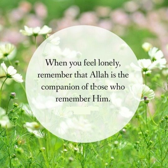 Allah is the companion