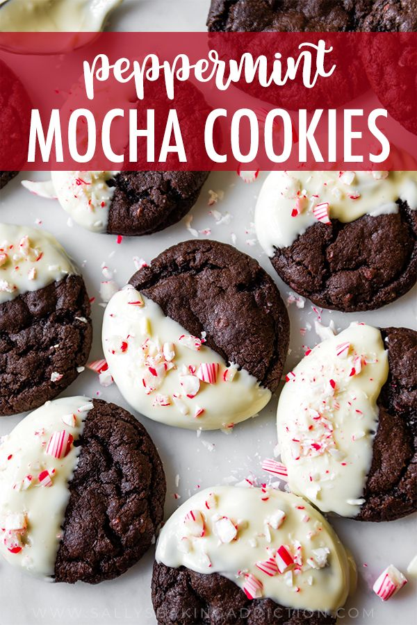 Soft Baked And Chewy Peppermint Mocha Cookies The Candy Cane Crunch