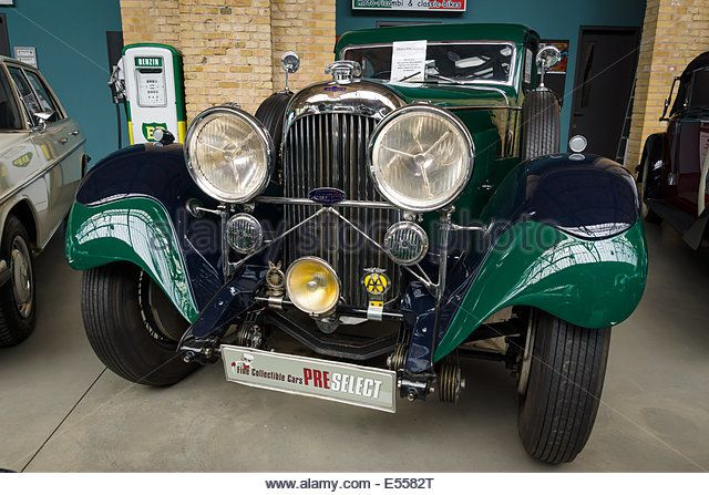 Oldtimer Lagonda M45, SportsSaloon Body by John Charles Ltd (1934). 27th Oldtimer Day Berlin - Brandenburg - Stock Image