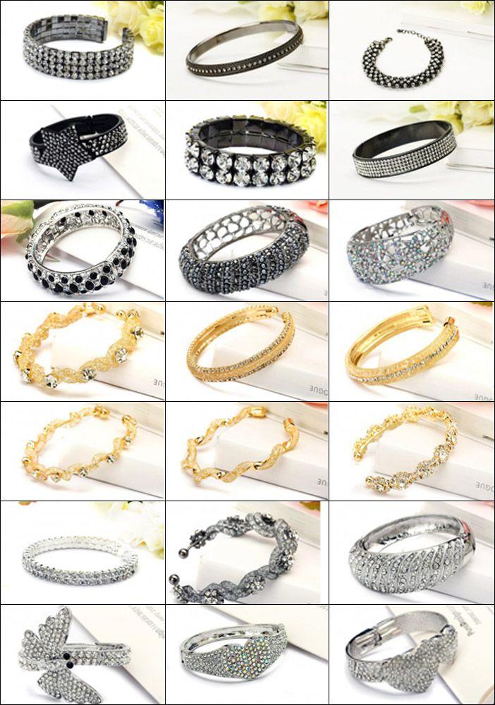 Vijf rij kleurrijke Rhinestone Bangle Fimo klei sieraden met fabriek prijs BLN4085 - Strass bangle armband op de verkoop uit China goede kwaliteit Strass bangle armband fabrikant