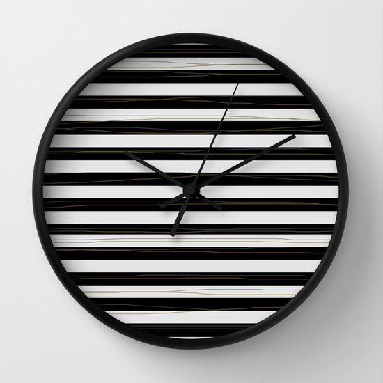 Black stripes https://society6.com/product/lpiz_wall-clock#33=284&34=286