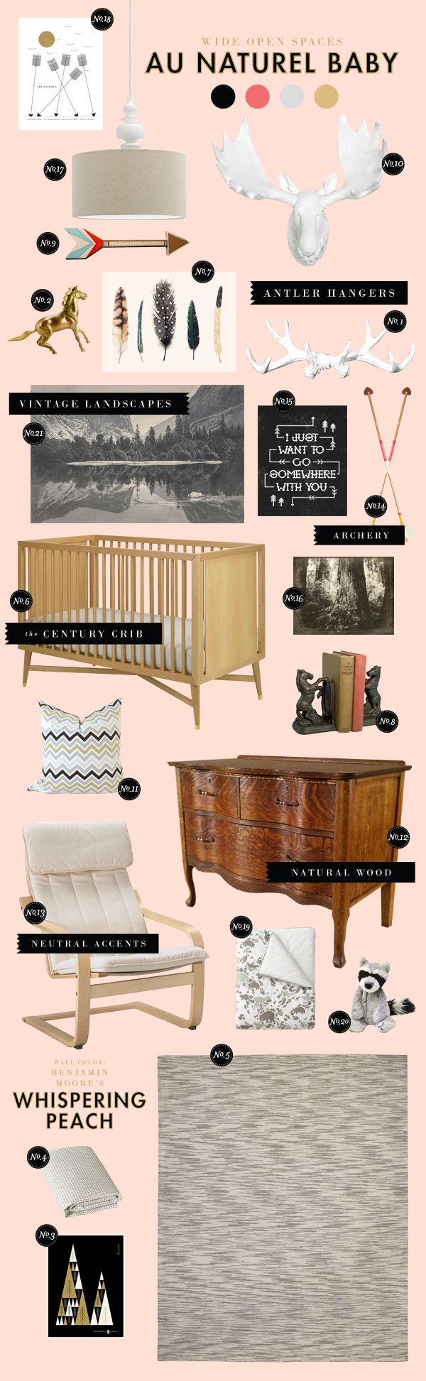 for a nursery, but like some of the ideas for guest room/living room, etc
