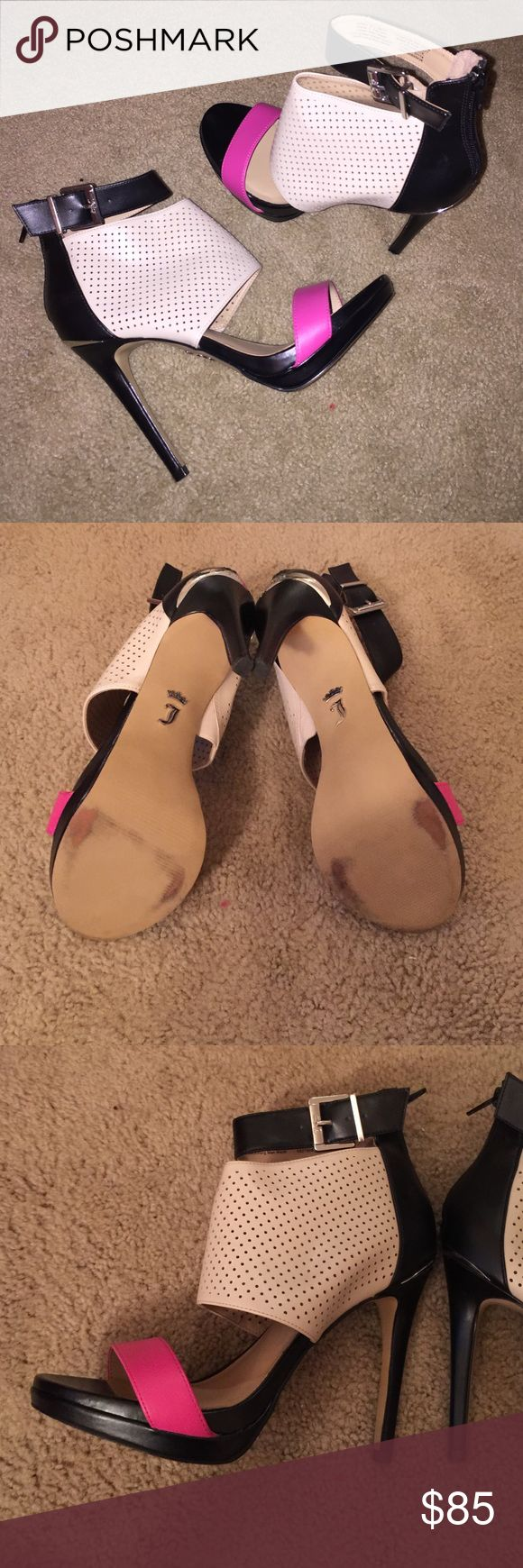 Juicy Couture Heels Size 9 juicy couture heels. Worn once for a wedding. Excellent condition Juicy Couture Shoes Heels