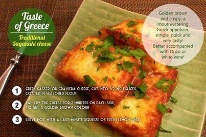 How to make saganaki (fried greek cheese) | Recipes - Side Dishes 'n ...
