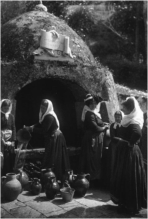 Gastouri - Corfu; Γαστούρι Κέρκυρας, στην πηγή της αυτοκράτειρας Ελισάβετ, 1903, François Frédéric (Fred) Boissonnas (1858-1946)