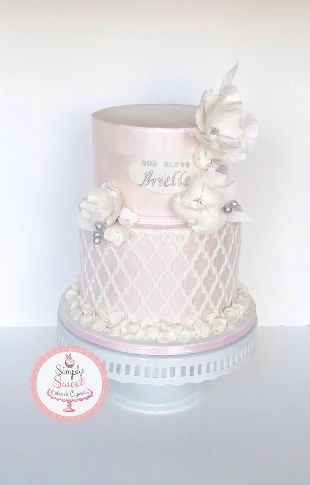 Beautiful Baby Girl Baptism Cake