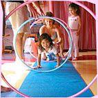 Hula Hoops Make Great Yoga Props #yogaprops #yoga4kids