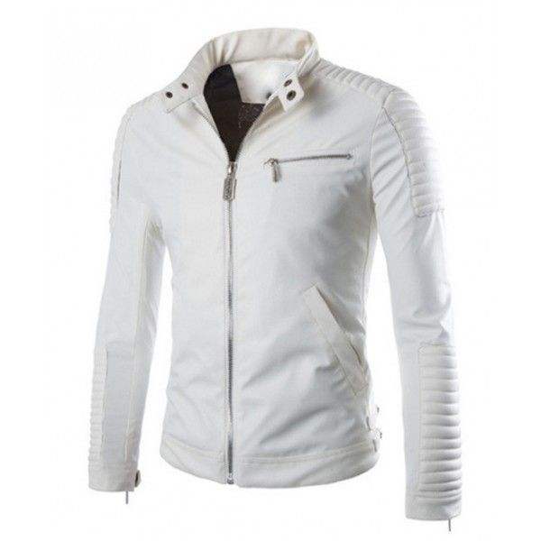 Best 25  White leather jacket mens ideas on Pinterest | Ryan ...