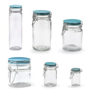 Duck Egg Blue Flip Jars, Starting from juat £1, Visit us instore at Inspired Cookware, Metro Centre, Red Mall