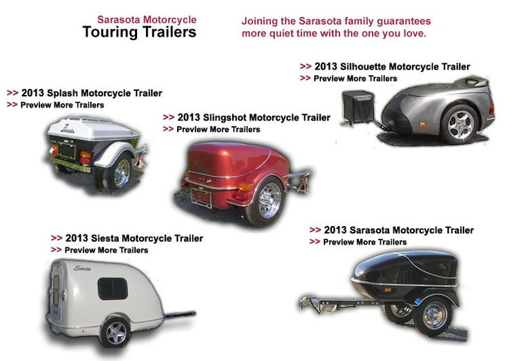 Sarasota Motorcycle Trailers- Quality Motorcycle Touring Trailers to Pull Behind your Motorcycle