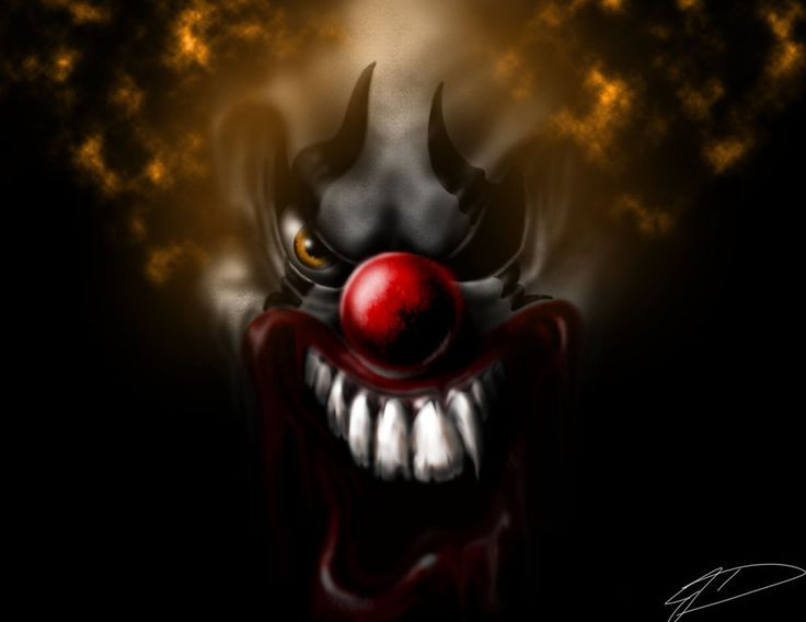 Evil clown by Jcdow3.deviantart.com on @deviantART