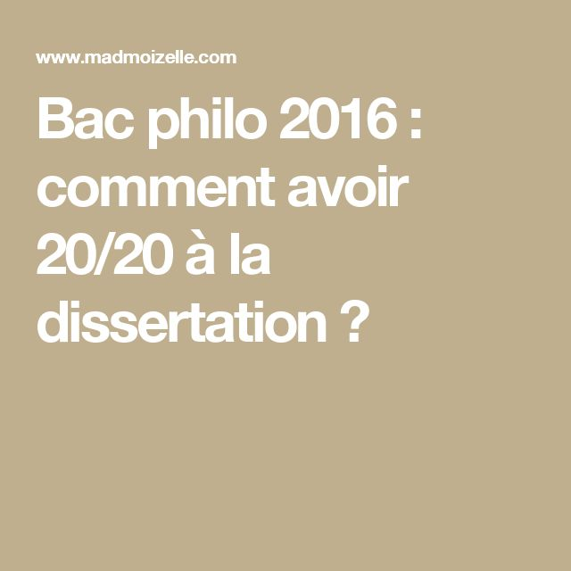 faire un plan de dissertation de philo