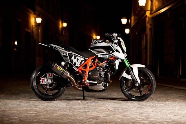 Rok Bagoroš's new KTM 690 Duke stunt bike.