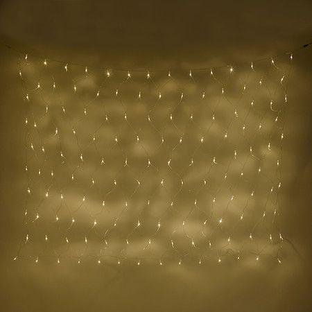 140er LED Lichternetz warmweiß Koppelbar Typ U 2x 1,5m