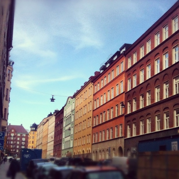 Colourful houses (Stockholm)