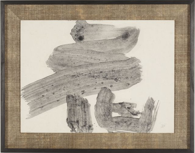 Yuichi Inoue 井上有一 (1916-1985), 花 / Hana, 1970. Ink on Japanese paper, 123.0 x 181.0 cm.