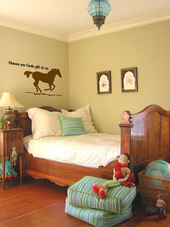 Horse decal wall words girls room teen girl room decor