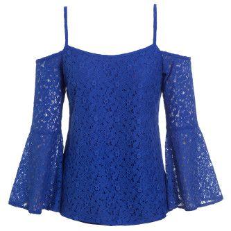 lindas blusas de renda azul                                                                                                                                                      Mais