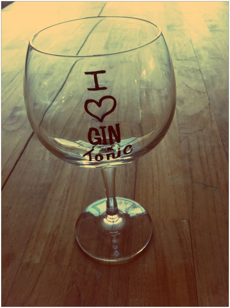 "Gin and tonic glass ""I love gin and tonic"""
